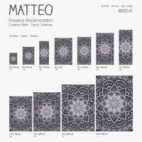 Vinyl Teppich MATTEO Mosaic 4 Dunkelgrau 90 x 160 cm