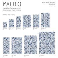 Vinyl Teppich MATTEO Mosaic blau