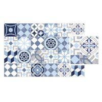Vinyl Teppich MATTEO Mosaic blau 40 x 60 cm