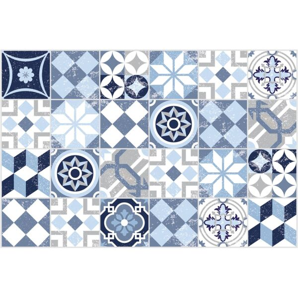 Vinyl Teppich MATTEO Mosaic blau 60 x 90 cm