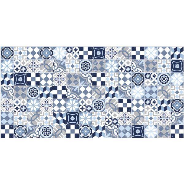 Vinyl Teppich MATTEO Mosaic blau 70 x 140 cm