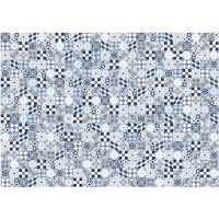 Vinyl Teppich MATTEO Mosaic blau 198 x 300 cm