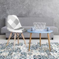 Vinyl Teppich MATTEO Mosaic blau/beige 60 x 90 cm