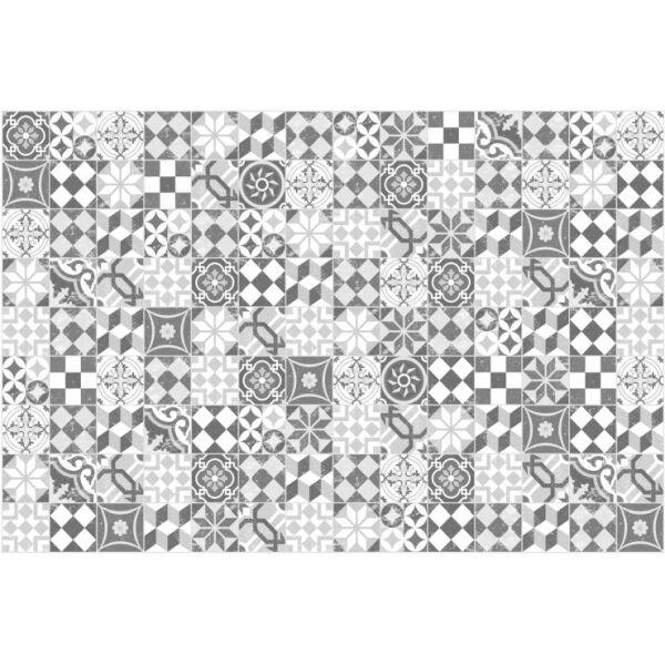 Vinyl Teppich MATTEO Mosaic grau