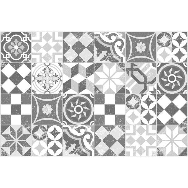 Vinyl Teppich MATTEO Mosaic grau 40 x 60 cm