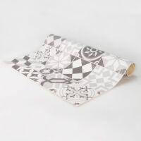 Vinyl Teppich MATTEO Mosaic grau 50 x 120 cm