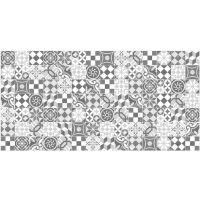 Vinyl Teppich MATTEO Mosaic grau 70 x 140 cm