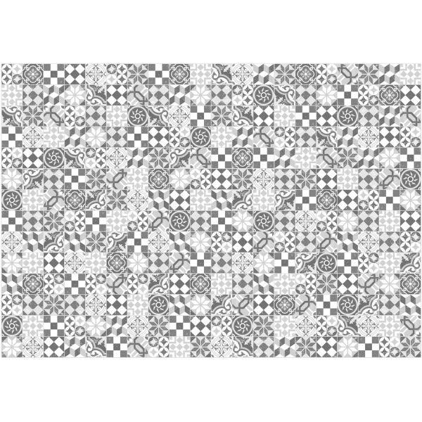 Vinyl Teppich MATTEO Mosaic grau 140 x 200 cm