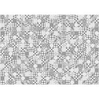 Vinyl Teppich MATTEO Mosaic grau 170 x 240 cm