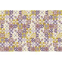 Vinyl Teppich MATTEO Mosaik lila