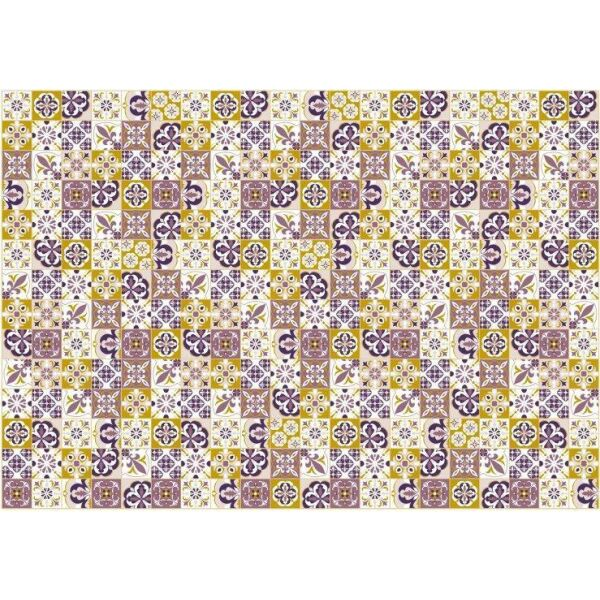 Vinyl Teppich MATTEO Mosaik lila 140 x 200 cm