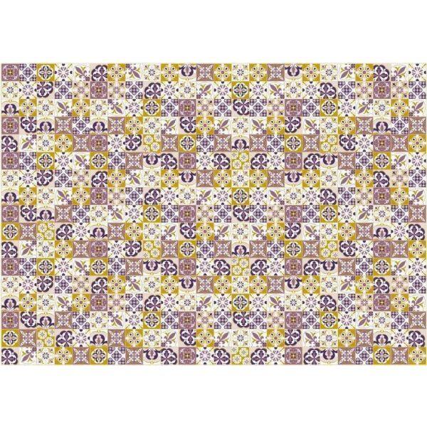 Vinyl Teppich MATTEO Mosaik lila 170 x 240 cm