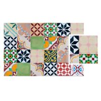 Vinyl Teppich MATTEO Mosaik bunt 1