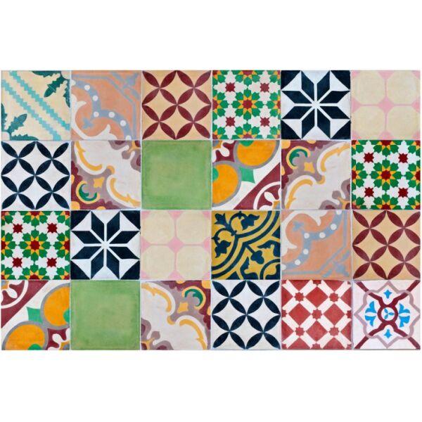 Vinyl Teppich MATTEO Mosaik bunt 1 60 x 90 cm