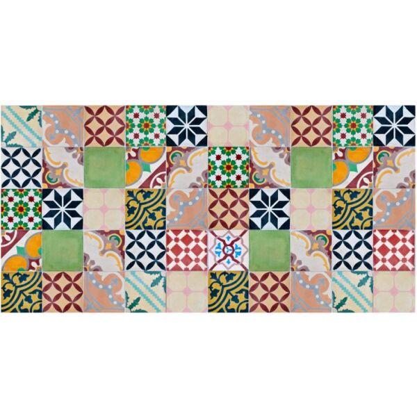 Vinyl Teppich MATTEO Mosaik bunt 1 70 x 140 cm