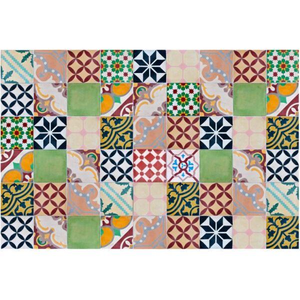 Vinyl Teppich MATTEO Mosaik bunt 1 90 x 135 cm