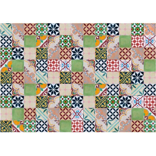 Vinyl Teppich MATTEO Mosaik bunt 1 140 x 200 cm