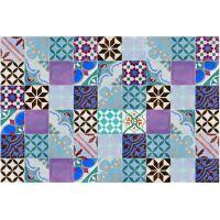 Vinyl Teppich MATTEO Mosaik bunt 2