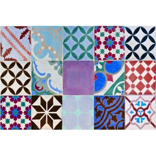 Vinyl Teppich MATTEO Mosaik bunt 2 40 x 60 cm