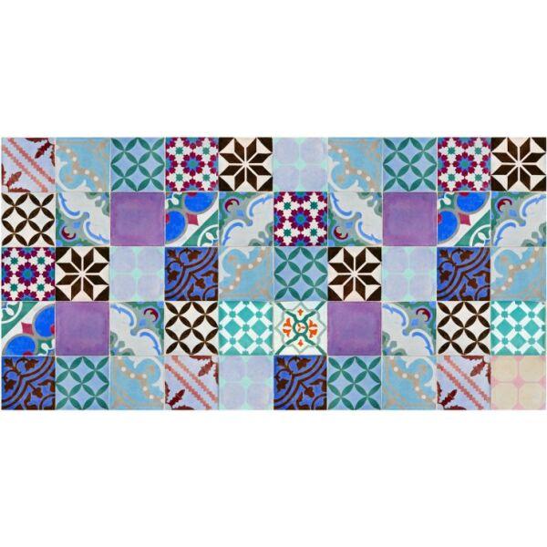 Vinyl Teppich MATTEO Mosaik bunt 2 70 x 140 cm