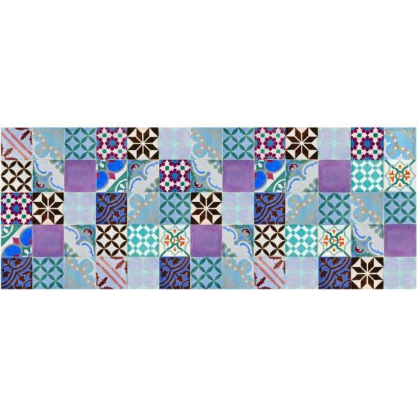 Vinyl Teppich MATTEO Mosaik bunt 2 70 x 180 cm
