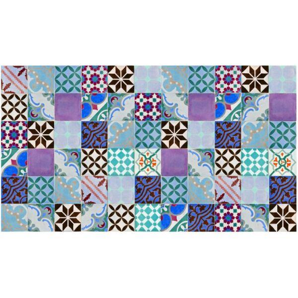 Vinyl Teppich MATTEO Mosaik bunt 2 90 x 160 cm