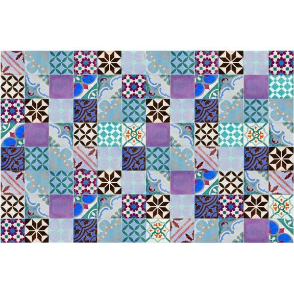 Vinyl Teppich MATTEO Mosaik bunt 2 118 x 180 cm