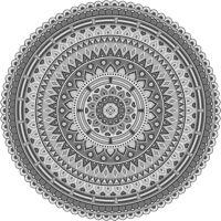 Vinyl Teppich rund MATTEO Mandala 2 grau Ø170 cm