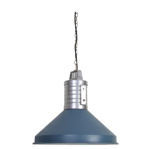 Hängelampe HEBELIA Metall Industrie blau