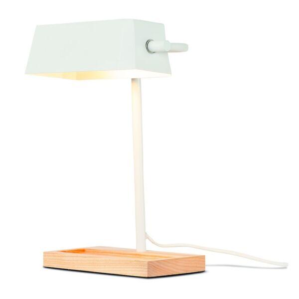 Schreibtischlampe CAMBRIDGE m. Ablagefläche Weiß