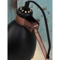 Tischlampe Denver Metall schwarz-Kupfer Zementfuß