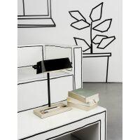Schreibtischlampe CAMBRIDGE m. Ablagefläche Schwarz