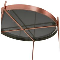 Design-Beistelltisch ESPEJO MINI Metall Kupfer