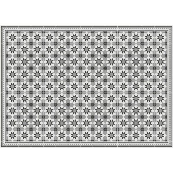 Vinyl Teppich MATTEO Fliesen grau 198 x 300 cm