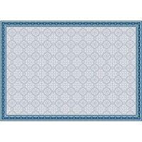 Vinyl Teppich MATTEO Fliesen 8 Blau 198 x 300 cm