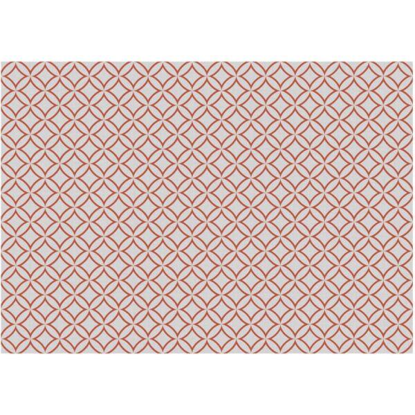 Vinyl Teppich MATTEO Leinen 7 rot 198 x 300 cm