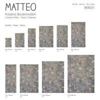 Vinyl Teppich MATTEO Pflasterstein 50 x 120 cm