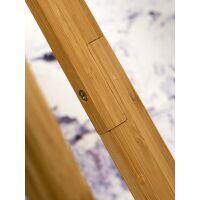 Stehlampe Everest Bambus Leinen Hellgrau