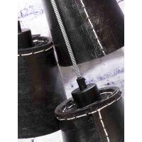 Hängelampe AMAZON aus recycled Reifen schwarz 3 Schirme
