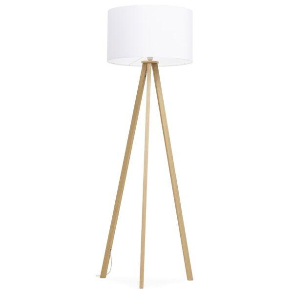 Stehlampe TRIVET weiss-Natur