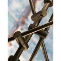 Hängelampe aus Eisen NASHVILLE 3-arm, Schwarz