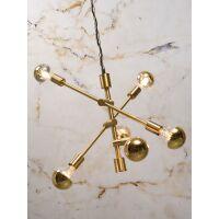 Hängelampe aus Eisen NASHVILLE 3-arm, Gold